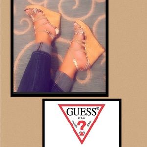 Shoes - ❓GUESS ❓Snakeskin inspired Wedges